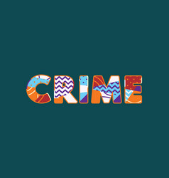 Crime concept word art vector
