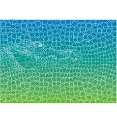 Crocodile abstract background vector