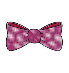 Cute decorative bow vector