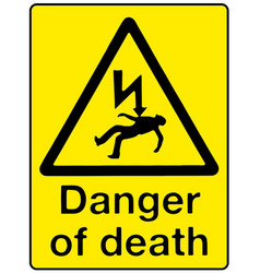 Danger of death vector