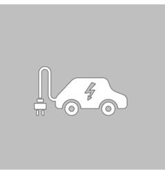 Electric car computer symbol vector image