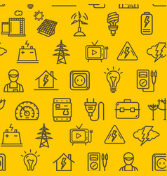 Electricity signs seamless pattern background vector