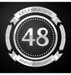 Forty eight years anniversary celebration with vector