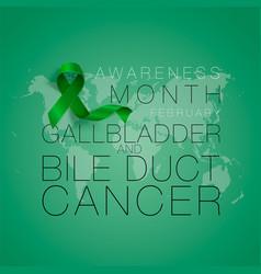 gallbladder and bile duct cancer awareness vector image