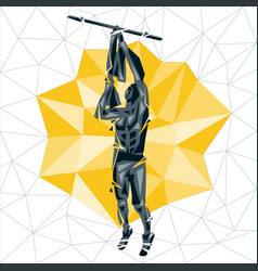 Geometric crossfit concept vector