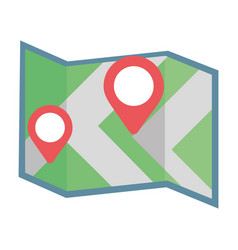 gps location map cartoon vector image
