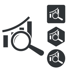 Graphic details icon set monochrome vector