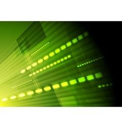 Green hi-tech motion background vector
