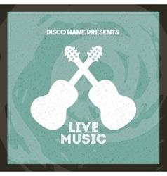 Guitar icon Retro and Music design vector