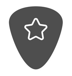 Guitar pick glyph icon musical and plectrum vector