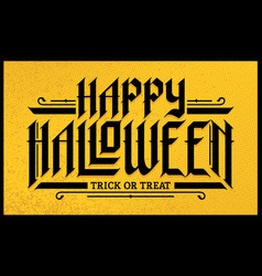 Halloween hand-drawn gothic lettering vector