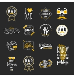 Happy fathers day wishes overlays lettering vector