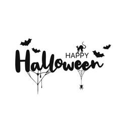 happy halloween lettering handwritten calligraphy vector image