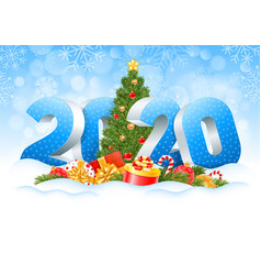 Happy new year 2020 vector