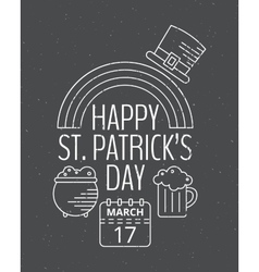 Happy St Patricks day grunge vintage poster vector image