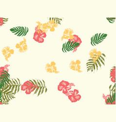hawaiian exotic cover template vector image