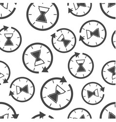 hourglass time icon seamless pattern background vector image