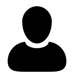 Human-Man-User-Profile Avatar Glyph Icon vector