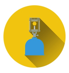 Icon of camping gas burner lamp vector image