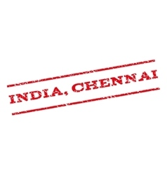 India Chennai Watermark Stamp vector