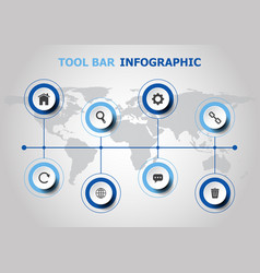 infographic design with tool bar icons vector image