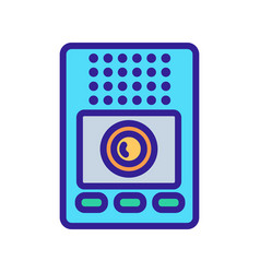 Intercom communication device icon outline vector