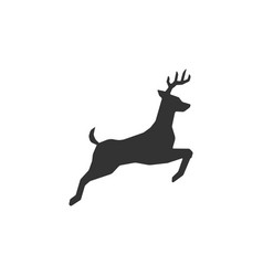 jumping deer sign vector image