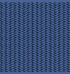 knit texture blue color seamless pattern fabric vector image