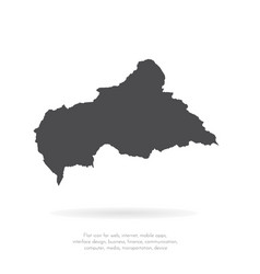 map central african republic isolated vector image