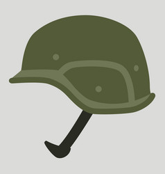 Military helmet flat style vector