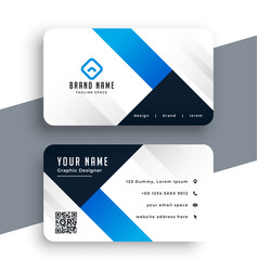 modern corporate blue business card template vector image
