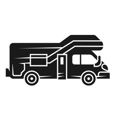 Modern motorhome icon simple style vector