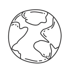 Monochrome contour of map world sphere vector