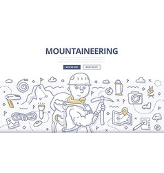 Mountaineering Doodle Concept vector