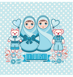 Newborn little baby matryoshka vector
