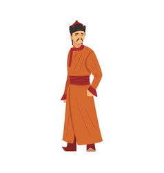 nomad mongol man central asian character vector image
