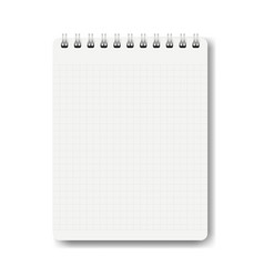 notebook isolated white background vector image