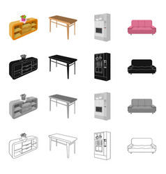 Office firm furnishings and other web icon in vector