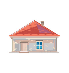 One brick house isolated vector