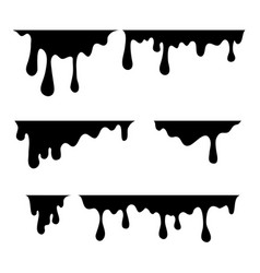 paint dripping current drops vector image