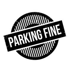 Parking fine rubber stamp vector