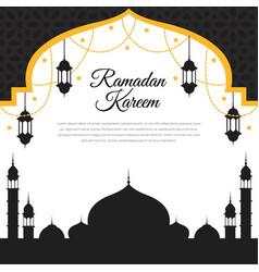 Ramadan kareem greeting template islamic vector
