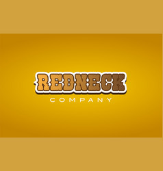 Redneck red neck western style word text logo vector