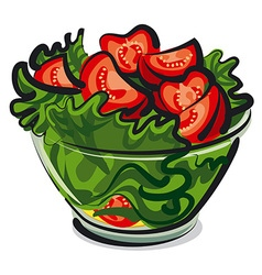 Salad with tomatoes vector