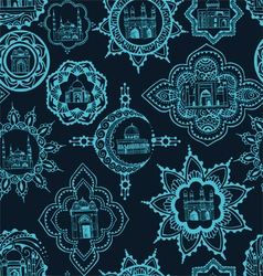 seamless background with Asian designs vector image