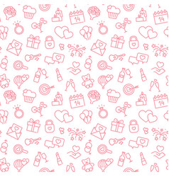 seamless background with linear valentine s day vector image