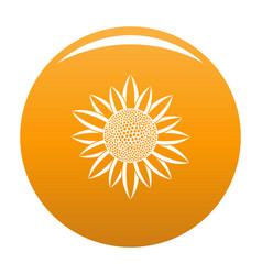 Sunflower seed icon orange vector
