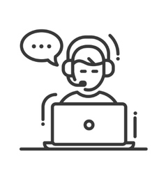 Tech support single icon vector