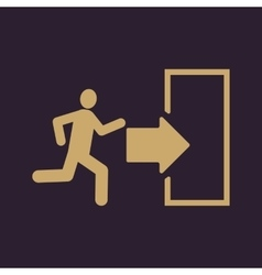 The exit icon Emergency Exit symbol Flat vector