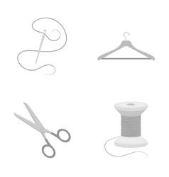Thread reel hanger needle scissorsatelier set vector